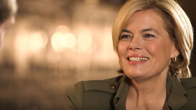 """""""Ich sag', wir schaffen das"""", sagt Julia Klöckner über die Regierungsbildung."""