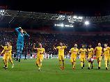 So sieht echte Freude aus: Die Spieler von Juventus feiern ihren Sieg.