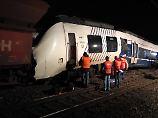 Der Zugführer konnte dank einer Vollbremsung Schlimmeres verhindern.
