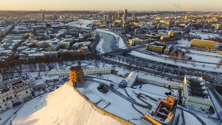 Winter in der litauischen Hauptstadt Vilnius.