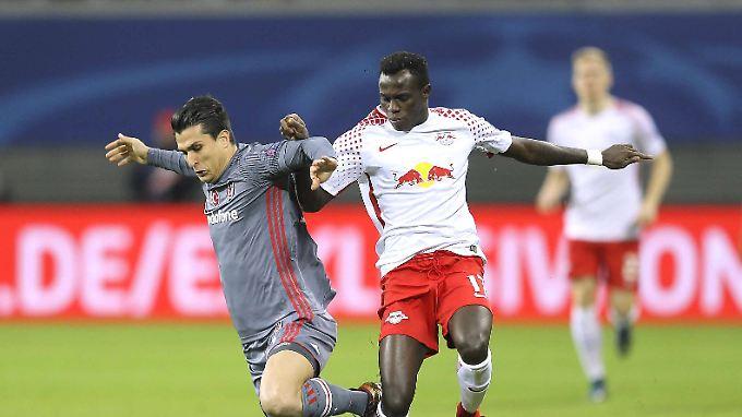 Stolpern, treten, fallen: Leipzigs Spieler konnten oft nur reagieren.