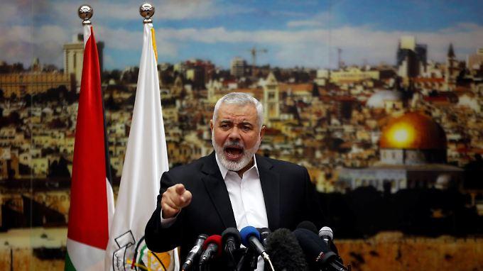 Hamas-Chef Ismail Hanijeh will einen neuen Aufstand.