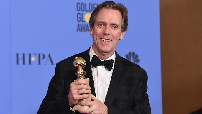 """Für seine Rolle als skrupellosen Waffenhändler in """"The Night Manager"""" bekam Hugh Laurie im Januar einen Golden Globe."""