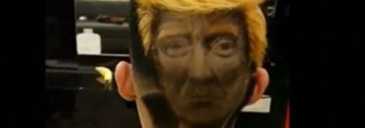 Kaum zu glauben, aber wahr: Taiwaner trägt Trump-Konterfei auf dem Hinterkopf