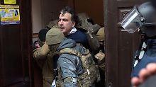 Saakaschwili wird bereits zum zweiten Mal festgenommen. (Archivbild vom 05.12.)