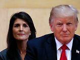 """""""Sollten bereit sein, zuzuhören"""": Haley nimmt Trump-Anklägerinnen in Schutz"""