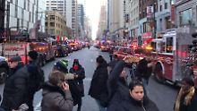 Explosion am Times Square: Versuchter Terroranschlag in New York