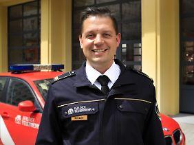 Brandoberrat Thomas Kirstein war einer der Einsatzleiter der Feuerwehr am Anschlagsort.