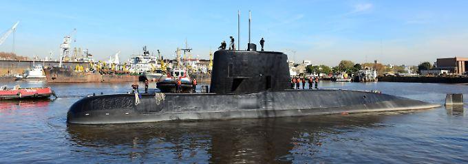 """Die 66 Meter lange """"ARA San Juan"""" war 1983 in Deutschland gebaut worden und später in argentinischen Besitz übergegangen. Verschollen ist das U-Boot auf einer Routinefahrt."""