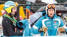 Felix Neureuther und Stefan Luitz - in trauter Eintracht werden sie vielleicht für ihre Comebacks arbeiten.