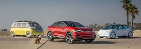 Drei Stromer von VW sollen den Ton für die Zukunft angeben.
