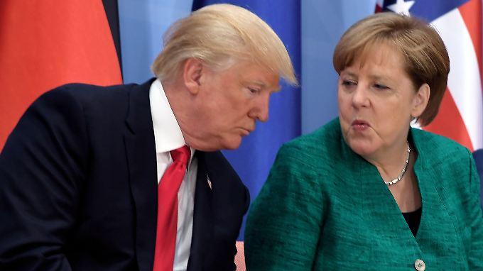 Merkel und Trump beim G20-Gipfel in Hamburg.