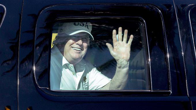 Trump in Florida, wo er gerade viel Zeit auf dem Golfplatz verbringt.