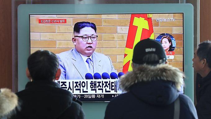 Auch in Seoul schaut man sich Kims Ansprache an.