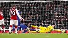 Arsenal mit Remis gegen Chelsea: Keeper glänzen bei Offensivspektakel