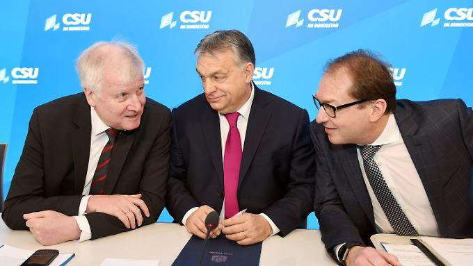 Die Dreifaltigkeit von Seeon: Seehofer, Orbán und Dobrindt