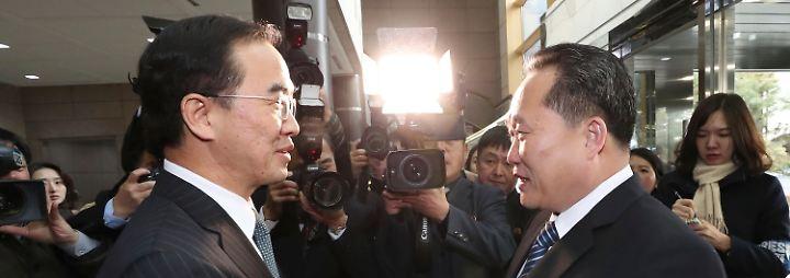 Erste direkte Gespräche seit zwei Jahren: Nord- und Südkorea gehen kleinen Schritt aufeinander zu