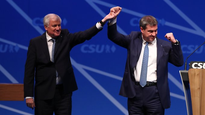 CSU-Chef Horst Seehofer und sein designierter Nachfolger als bayerischer Ministerpräsident, Markus Söder, können sich über viel Spendengeld freuen.