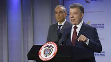 Präsident Juan Manuel Santos