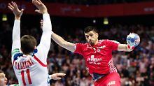 Rückraumstar Domagoj Duvnjak steuerte zwei Tore zum Prestigesieg seiner Kroaten gegen Serbien bei der Handball-EM bei.