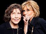 Pflaster an der Unterlippe: Jane Fonda nimmt Krebs mit Humor