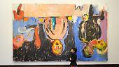 """Als Inspiration nennt Baselitz die expressionistischen Brücke-Maler. Sein Bildnis """"Nachtessen in Dresden"""" ist eine Hommage an diese Vorbilder."""