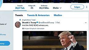 """Schmähpreis für die Medien: Trump kürt Journalisten mit """"Fake News Awards"""""""