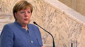 """Merkel mahnt die SPD: """"Die Welt wartet nicht auf uns"""""""