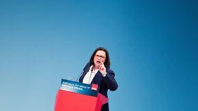 """Kampfrede von Nahles: """"Kann nicht von blühender Erholung in der Opposition reden"""""""