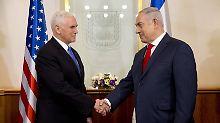 """Lieber Freund"" Pence in Israel: US-Botschaft zieht wohl 2019 nach Jerusalem"