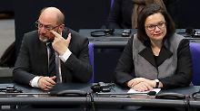 RTL/n-tv Trendbarometer: SPD und Schulz weiter im Umfrage-Tief