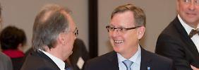 Reiner Haseloff (links) hat eine Bundesbehörde in seinem Land, Bodo Ramelow nicht.