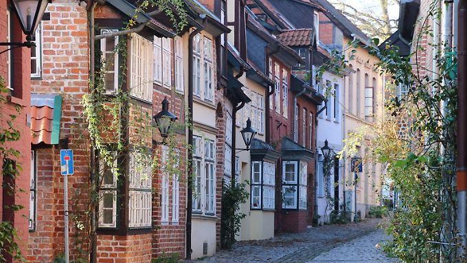 Westliche Altstadt von Lüneburg:Die Stadt ist praktisch auf Salz gebaut.