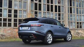 Das Heck des Range Rover Velar ist kraftvoll, aber nicht übermäßig wuchtig.