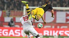 """Stefan Ruthenbeck ist leicht ernüchtert: """"Wir haben die Tore zu einfach bekommen. Wenn man gegen Dortmund zweimal zurückkommt, darf man das nicht mehr abgeben. Vielleicht waren wir nach dem 2:2 einen Tick zu euphorisch. Wir nehmen aber mit, dass wir mit Dortmund auf Augenhöhe waren. Dafür können wir uns aber nichts kaufen."""""""
