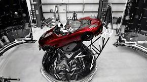 """Start der Riesen-Rakete """"Falcon Heavy"""": Musk will Tesla-Roadster zum Mars schießen"""