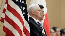 """Pence warnt Kim vor Propaganda: USA verkünden """"aggressivste"""" Sanktionen"""