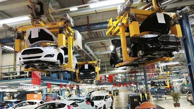 Eine Produktionshalle von Ford in Köln.