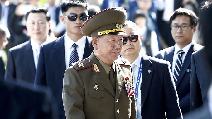 Galt als Nordkoreas erster Mann hinter Staatsoberhaupt Kim Jong Un: der geschasste Militärchef Hwang Pyong So.
