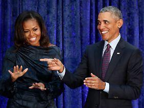 Haben guten Grund zur Freude: Michelle und Barack Obama.