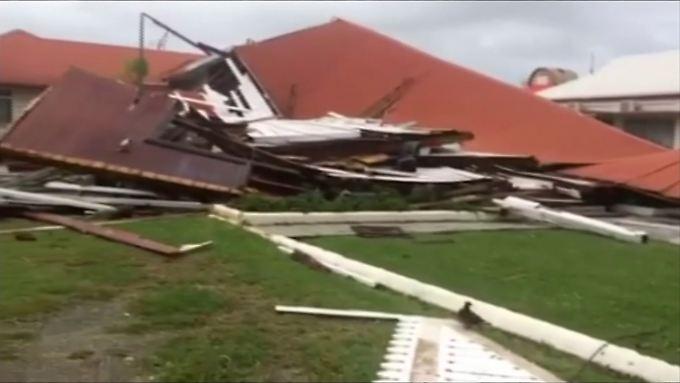 Das zerstörte Parlament von Tonga.