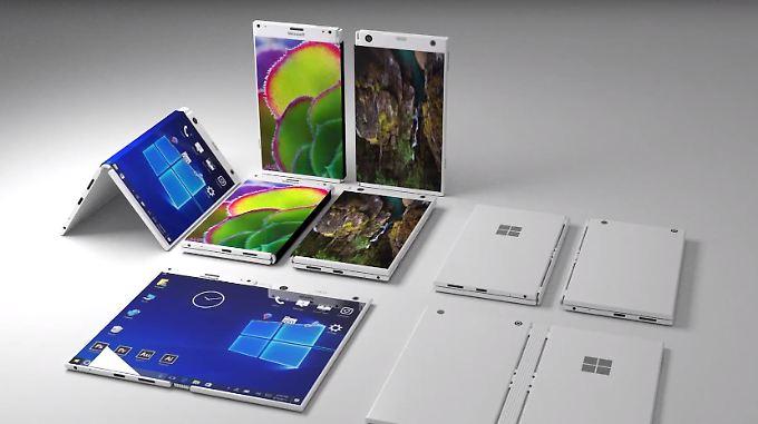 So stellt sich Produktdesigner M Danish Attari das Surface Phone vor.