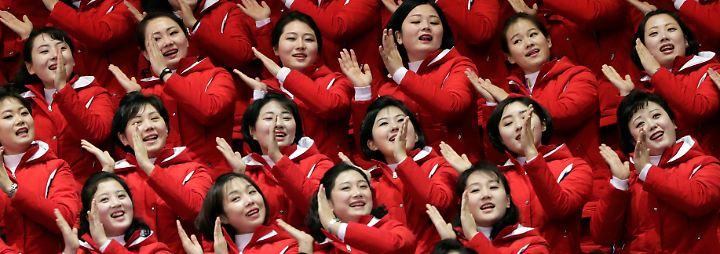 """Kims """"Armee der Schönheiten"""": Gedrillte Nordkoreanerinnen mischen Olympia auf"""