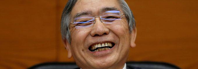 Längster Aufschwung seit 28 Jahren: Japans Notenbankchef Haruhiko Kuroda.