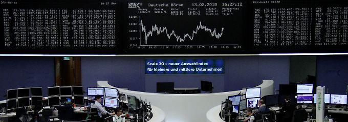 Börsen-Ampel auf Rot: Der Dax am Dienstag.