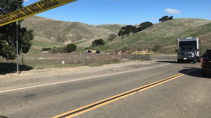Die Tesla Road in Alameda County verläuft durch größtenteils unbewohntes Land.