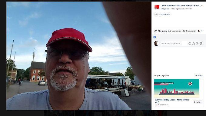 So stellt sich Udo Schmitz per Selfie auf der Facebook-Seite seines Ortsvereins dar.