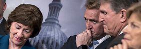 Diesen US-Senatoren steht die Ratlosigkeit ins Gesicht geschrieben.