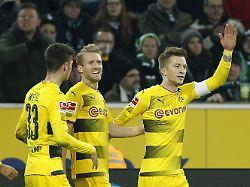 Gladbach schludert, BVB Zweiter: Reus zaubert Borussia Dortmund zum Sieg