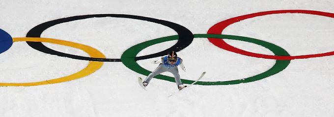 Olympiasieg für Norwegen: Deutsche Skispringer holen Team-Silber